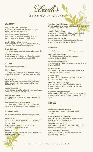 Customize Leafy Cafe Menu