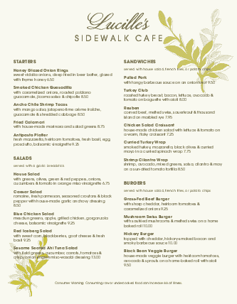 Customize Leafy Cafe Menu