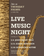 Live Music Event Flyer