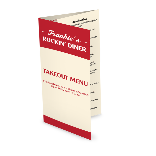 Customize Local Diner Takeout Menu
