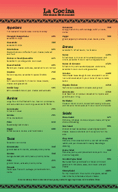 Mexican Bar Menu Design Templates By Musthavemenus