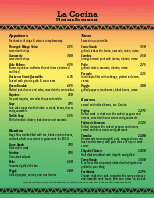 Mexican Bar Menu