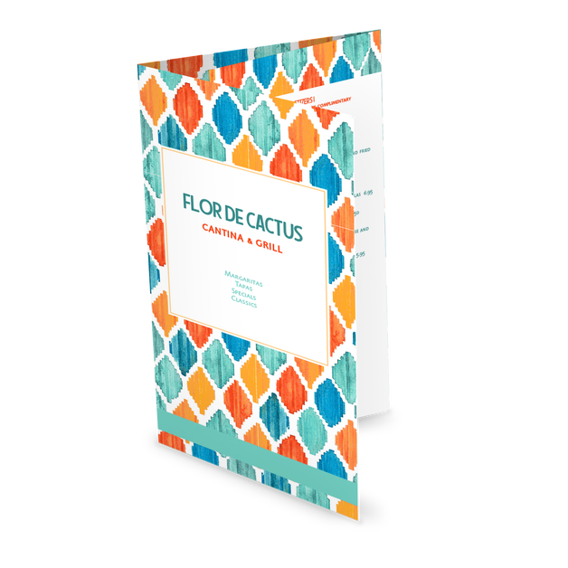 Customize Mexican Colorful Folded Menu