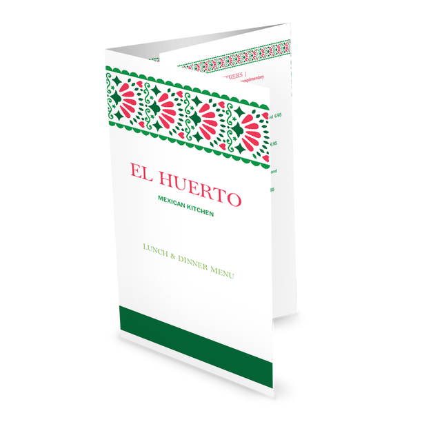 Customize Mexican Kitchen Folded Menu