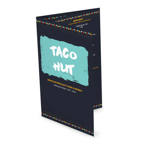 Customize Mexican Taco Folded Menu