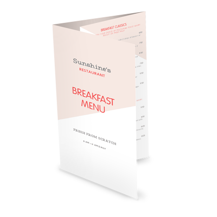 View Modern Breakfast Folded Menu