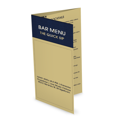 View Modern Bar Takeout Menu