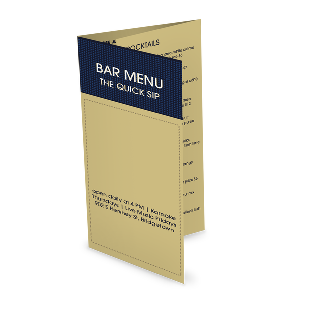 Customize Modern Bar Takeout Menu