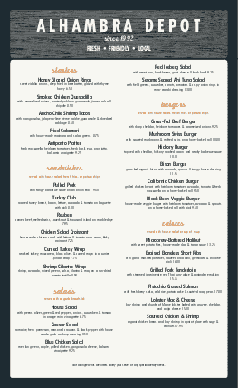 Customize Modern Restaurant Menu