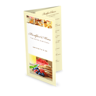 Morning Breakfast Trifold Menu