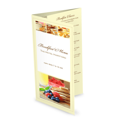 View Morning Breakfast Trifold Menu