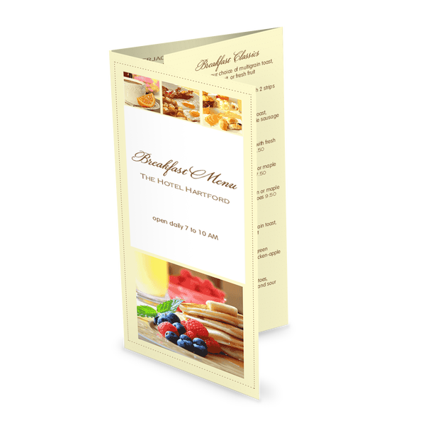 Customize Morning Breakfast Trifold Menu