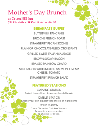 mothers day letter 3 happy s day brunch menu s day menus 28627