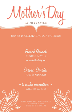 Mothers Day Event Flyer