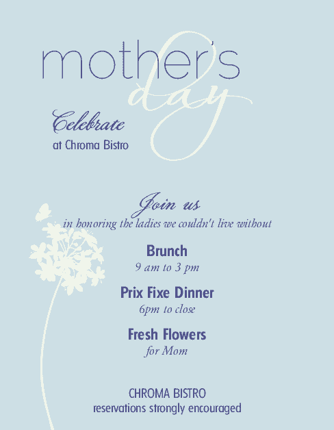 Customize Mother's Day Restaurant Flyer