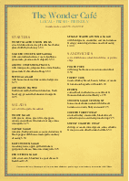 A4 New Cafe Menu