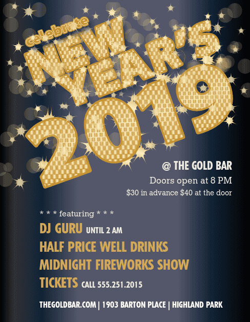 Customize Flyer for New Years