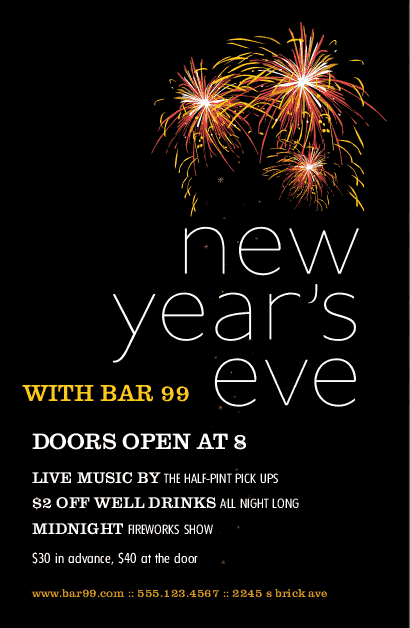 New Years Restaurant Flyer | New Years Eve Flyers