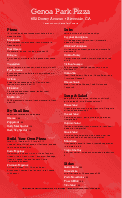 New York Pizza Menu