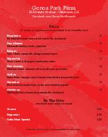 NY Pizza Menu Poster