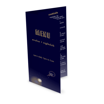 night club folding menu design templates by musthavemenus