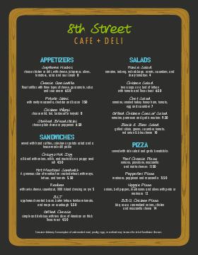 nyc deli menu