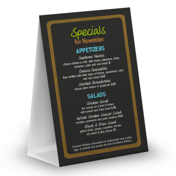 NYC Deli Table Tent Menu  sc 1 st  MustHaveMenus & Table Tents for Restaurants - MustHaveMenus