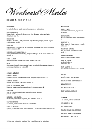 Customize A4 Outdoor Cafe Menu