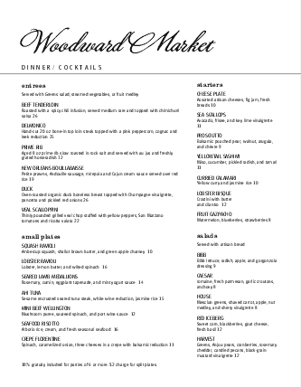 Customize Outdoor Cafe Drinks Menu