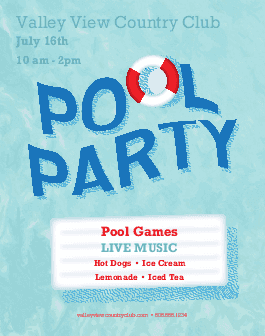 Pool Party Flyer Summer Flyers