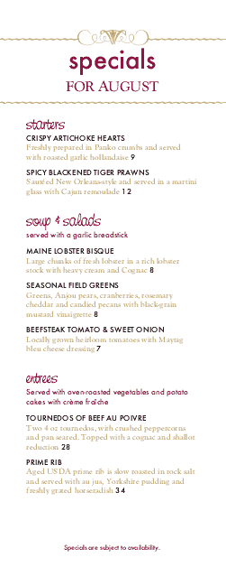 Customize Red Wine Happy Hour Menu
