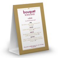 Red Wine Table Tent Menu