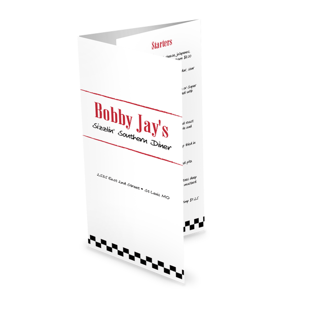 Customize Retro Diner Trifold Menu