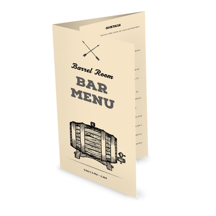 View Rustic Bar Folded Menu
