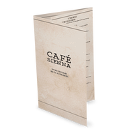 Rustic Cafe Folded Menu