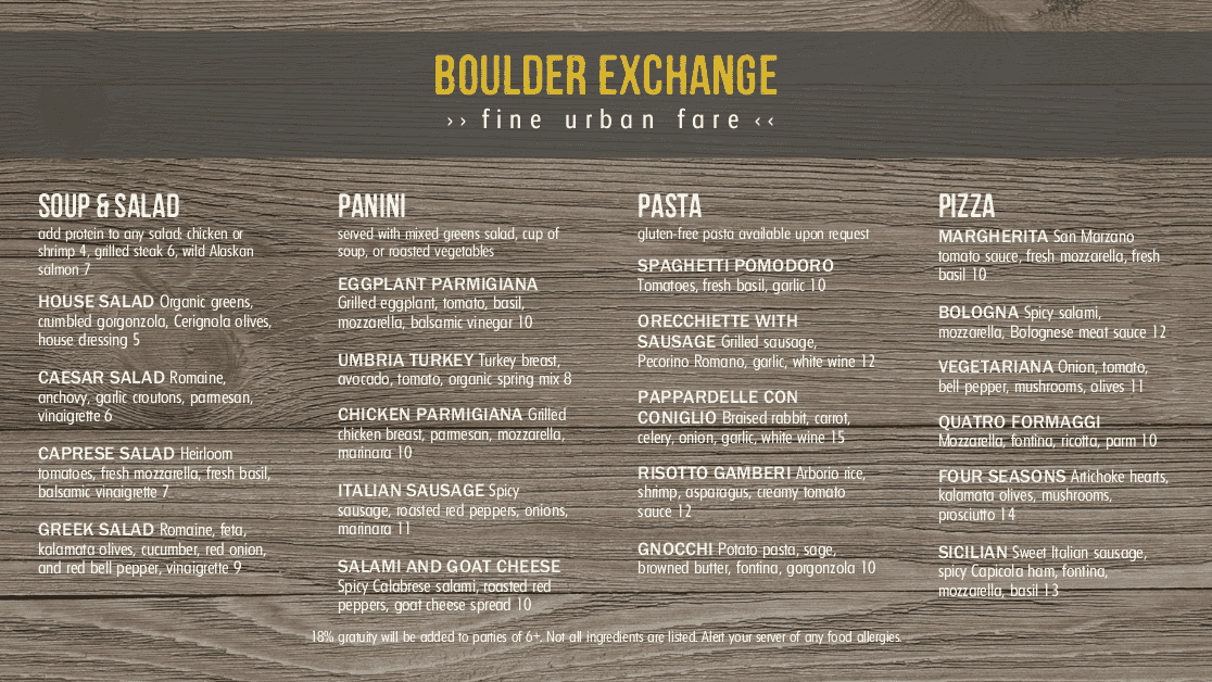 Customize Rustic Wood Digital Menu