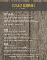 Rustic Wood Menu