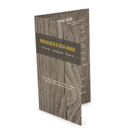 Rustic Wood Trifold Menu