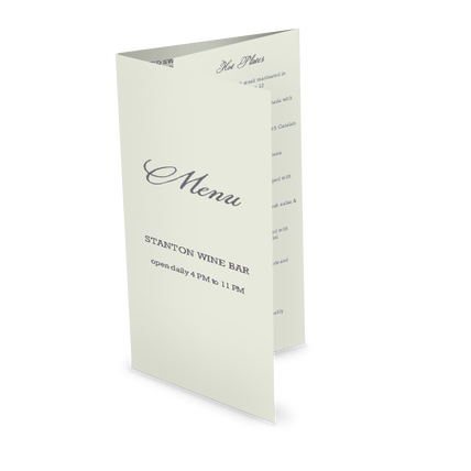 View Sample Trifold Menu