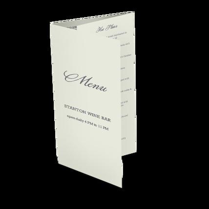 sample trifold menu takeout menus