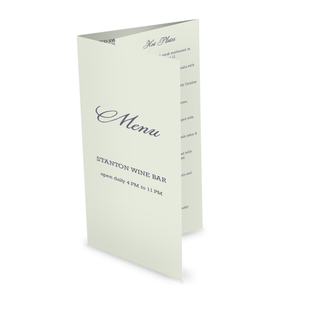 Customize Sample Trifold Menu