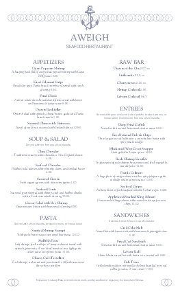 Customize Fresh Seafood Menu Long