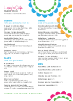 A4 Sidewalk Cafe Menu