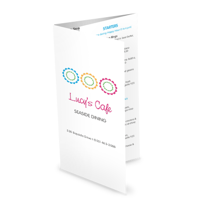 View Sidewalk Cafe Trifold Menu