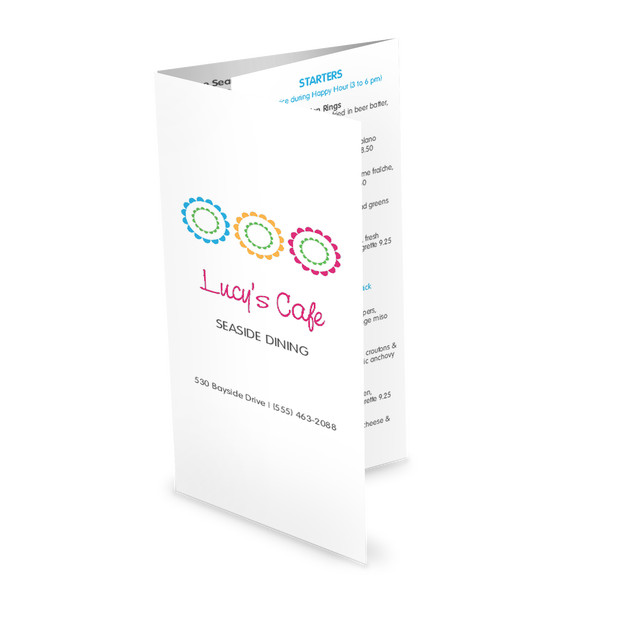 Customize Sidewalk Cafe Trifold Menu