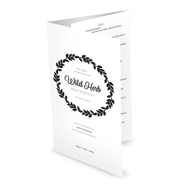 Customize Simple Restaurant Folded Menu