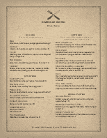 Slow Food Bar Menu