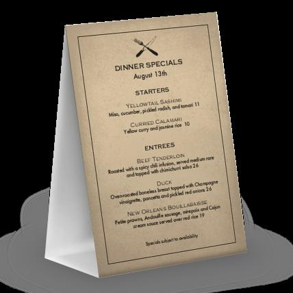 slow food table tent menu design templates by musthavemenus
