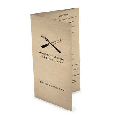 View Slow Food Trifold Takeout Menu