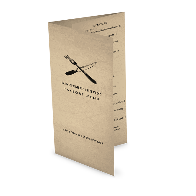Customize Slow Food Trifold Takeout Menu